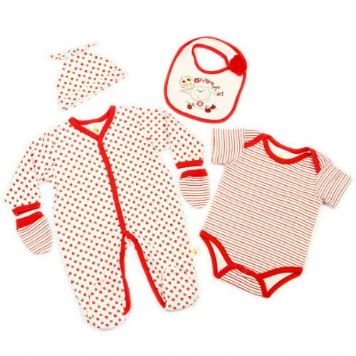 "FUNKY ""APPLE"" 5 PIECE LAYETTE SET"